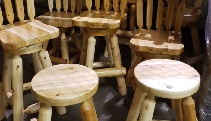 Solid Cedar Bar Stools Wholesalers Furniture Direct